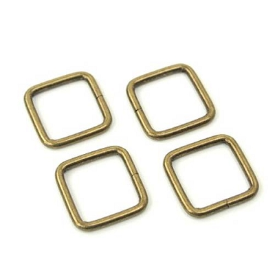Rectangle Rings 3/4in Antique Brass
