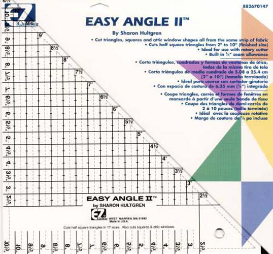 Easy Angle II Triangle Ruler 45 Degree 10-1/2in