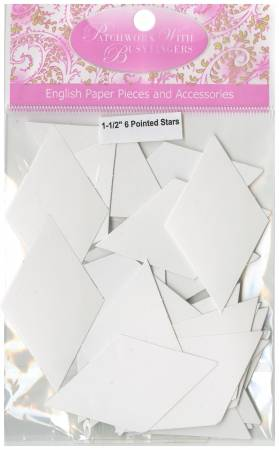 6 Pointed Star Papers 1-1/2 inch (50 pcs)