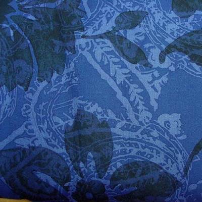 Timeless Treasures XFleur Blue 108 wide Backing