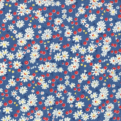 Moda Playtime 30's Blooms Light Blue