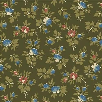 Windham Storytellers Small Floral Green 40806-7