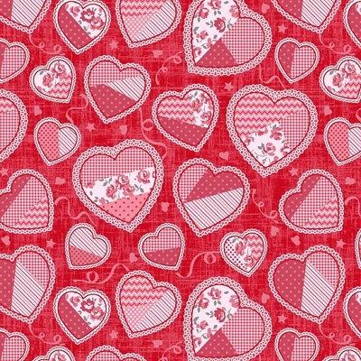 Studio e Hugs & Kisses Crazy Quilt Hearts 3061-88