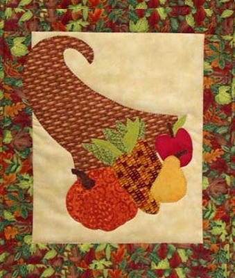 Happy Harvest Kit includes pattern, fabric, backing and binding