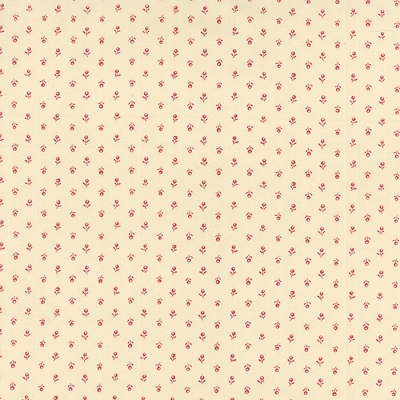 Moda Silver Linings Cream Red