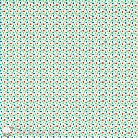 Moda Playtime 30's Dots Sprinkles Green
