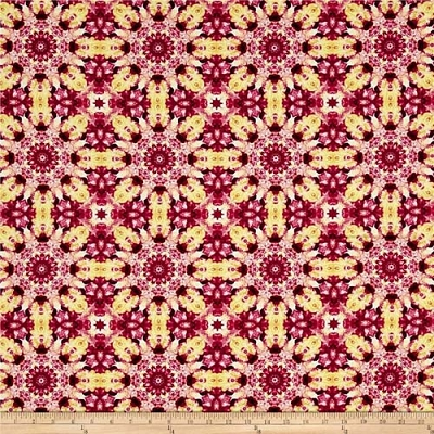 Benartex Irresistable Iris Water Kaleidoscope Red/Multi 1075-10