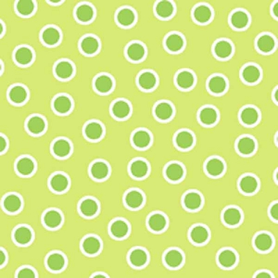 In the Beginning Flannel Dots Green 4JHK-5