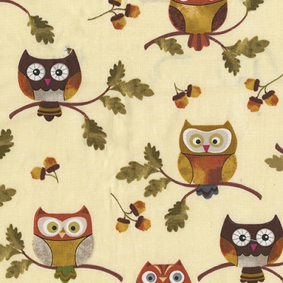 Benartex Autumn Owls Cream 8317-07