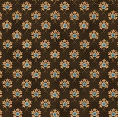 HG Fiddlesticks & Fancies Dk Brown Floral 6707-33
