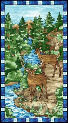 Studio e Mosaic Forest Panel 4190P-77