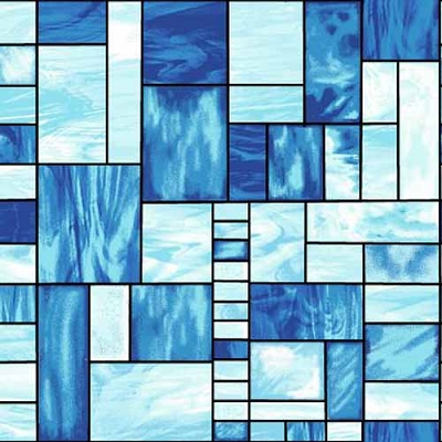 Studio e Mosaic Forest Stain Glass Blue 4197-77