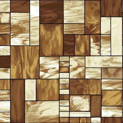 Studio e Mosaic Forest Stain Glass Brown 4197-33