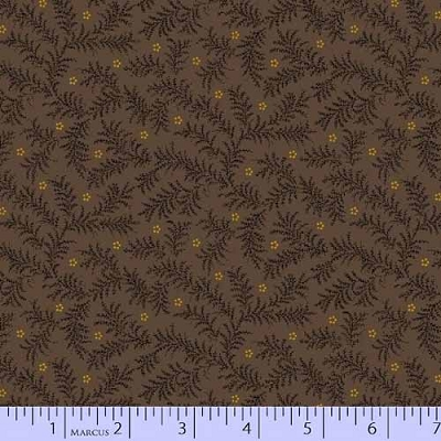 Bristle Creek Farmhouse Ferns on dk Brown 8143-0113