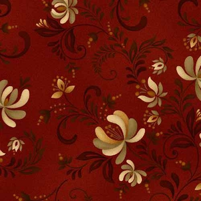 Henry Glass Plain & Simple Red Floral