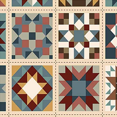Northcott Heritage quilt blocks 21928-12