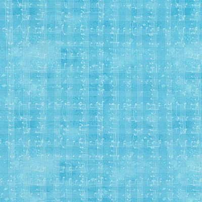Timeless Treasures Music Notes Grid C5935-Blue