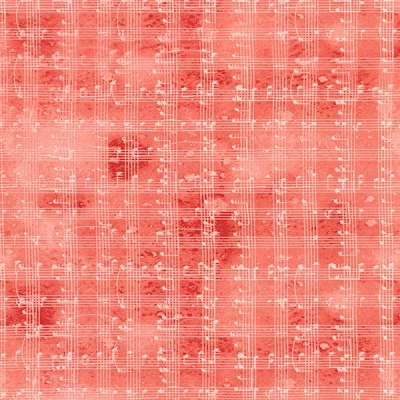 Timeless Treasures Music Notes Grid Red C5935-Red
