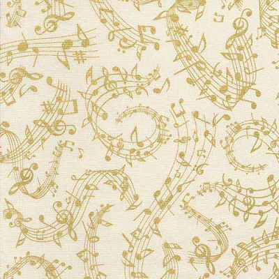 Timeless Treasures Music Notes CM6125-Cream