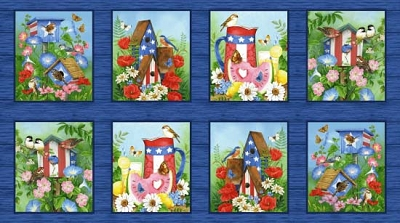 America the Beautiful Birdhouse Panel 24in
