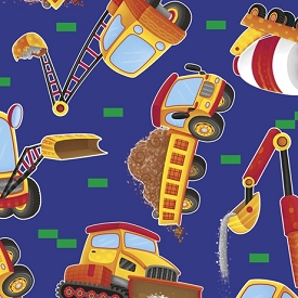 Quilting Treasures Work in Progress Dump Truck Royal 26827-Y