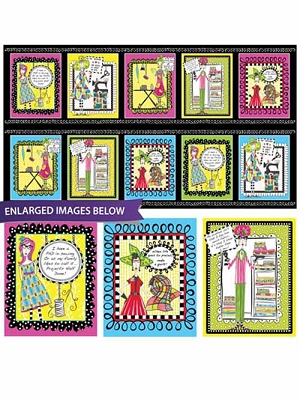QT Sew Sassy Sewing Picture Patches Black 26784-J