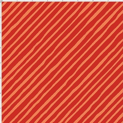 Loralie Joy Dog Bias Stripe Red 692-288