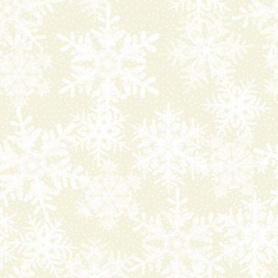 Winter Twist Snowflakes Cream 6WT1