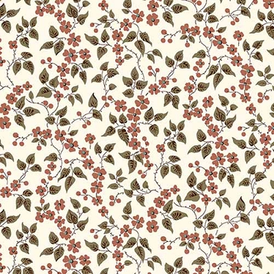 QT Bethel Floral & Leaves Cream 26248-E