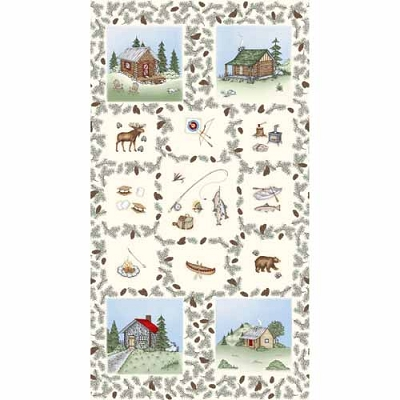 Maywood Cozy Cabin Natural Cozy Panel 24in