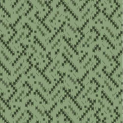 Maywood Cozy Cabin Green Geo Weave Texture