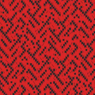 Maywood Cozy Cabin Red Geo Weave Texture