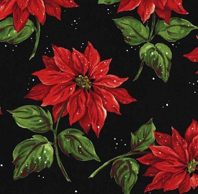 Poinsettia In the Snow GARL-D