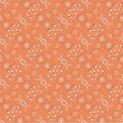 Farm Girl Vintage Bandana Orange C7874-ORANGE
