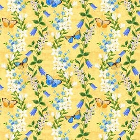 Wilmington Prints Madison Yellow Floral Trails