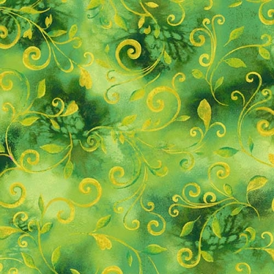 QT Swirls Kelly Green 26948-G