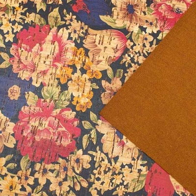 Big Flower Cork Fabric COF-184 13 x 27