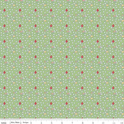 Vintage Happy 2 Leaves Green C9141-GREEN