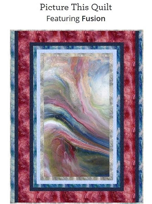 Fusion kit picture this quilt kit Cranberry