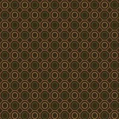 Henry Glass October Morning Dotted Hexies Brown 9130-33