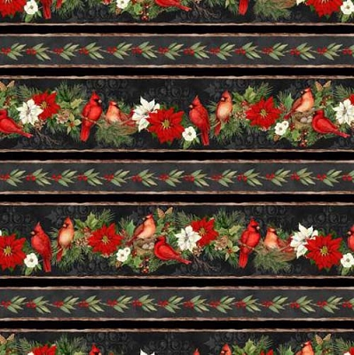 Cardinal Noel Multi Repeating Stripe