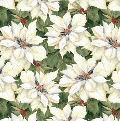 Cardinal Noel White/Cream Poinsettias