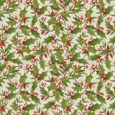 Cardinal Noel Cream Holly Toss