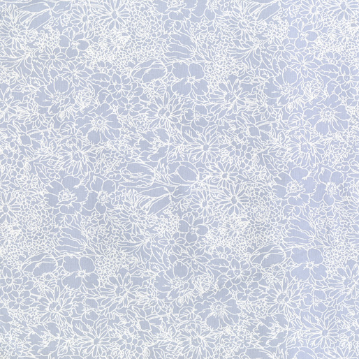 Benartex Bare Necessities Packed Floral White/Blue