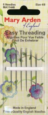 Mary Arden Easy Threading Needles Size 4/8