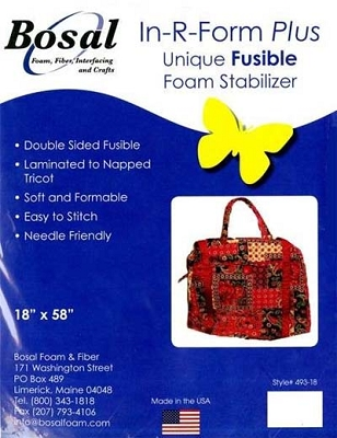 Bosal White Stabilizer Double Sided Fusible 18 x 58