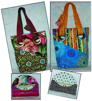 WALLET AND GROMMET BAG