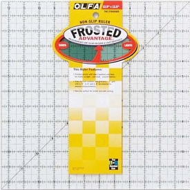 Olfa Frosted 12-1/2 x 12-1/2 Square ruler