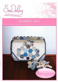 Sue Daley Barrel Bag and Pin Cushion(includes pre-cut papers)