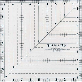 Quilt in a day Triangle Square up ruler 9-1/2